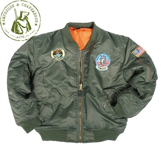 Куртка пилота детская МА1 US Olive