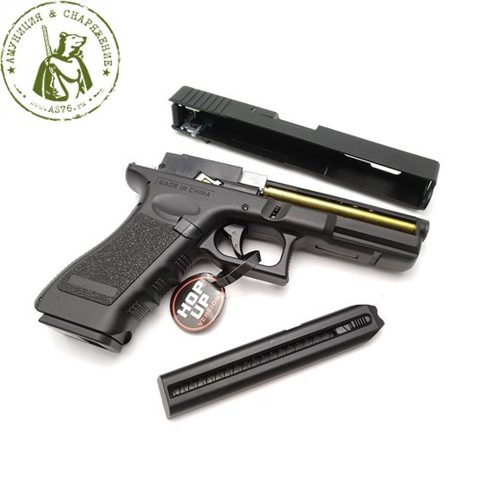 Пистолет страйкбольный CM030 Glock 18c