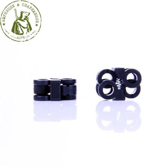 Пряжка для шнурков черная