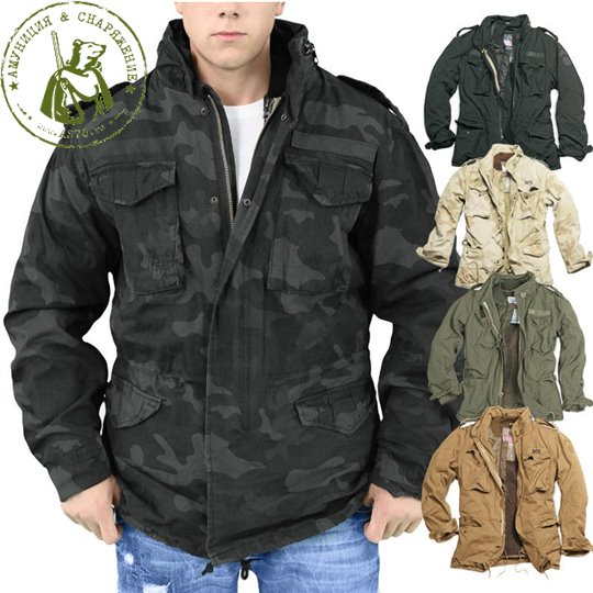 Куртка Surplus М65 Rejiment Jack Black Camo