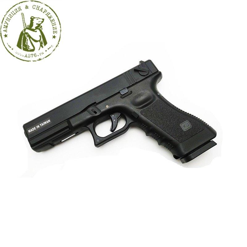 Пистолет стайкбольный KJW Glock G18 GBB CO2