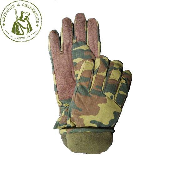 Перчатки зимние армейские флора