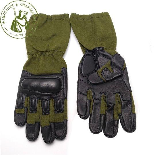 Перчатки EDGE Tactical Nomex удлиненные Olive
