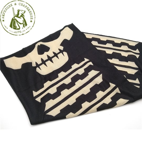 Шарф-маска принт Black Skull