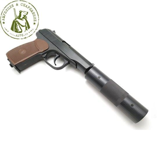 Пистолет МР-654К-22 с фальшглушителем 4.5мм.
