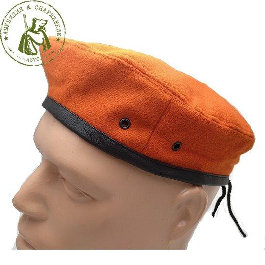 Берет простой оранжевый