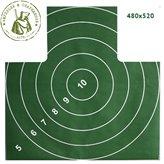 Мишень Remington №4 грудная 500х500 зеленая