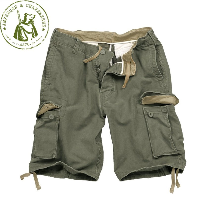 Шорты Surplus Vintage Washed GeWashed Olive