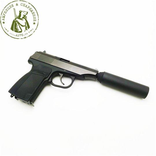 Пистолет WE PM 654K с глушителем