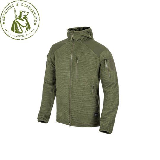 Куртка Helikon Alpha Hoodie Tactical Grid fleese Olive