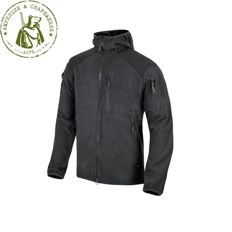 Куртка Helikon Alpha Hoodie Tactical Grid flees Black
