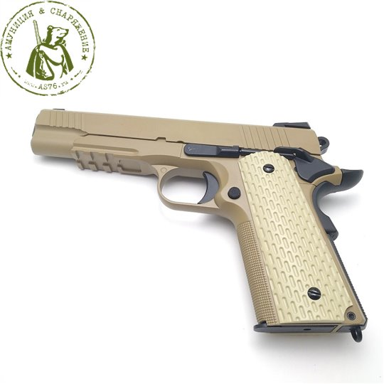 Пистолет WE Kimber Rail Colt M1911 Tan