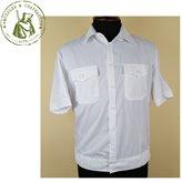 Рубашка полиции белая мужская кор/рук с липучкой