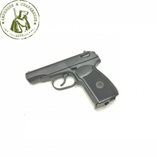 Пистолет МР-654К черная ручка кал. 4.5мм.