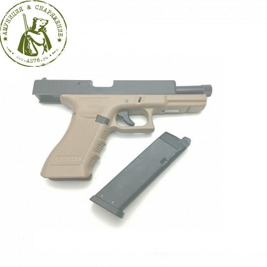 Пистолет KJW Glock G17 GBB KP-17 Tan
