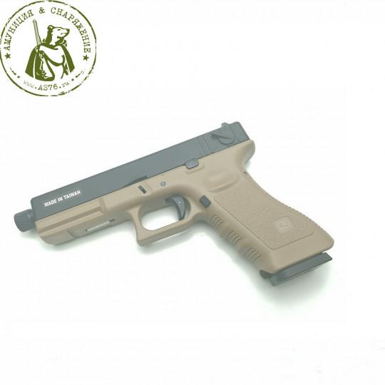 Пистолет KJW Glock G17 Tan