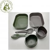 Набор посуды Helikon Wildo CAMP-A-BOX Duo Light, Olive Green-Dark Grey