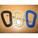 Карабин тактический пластиковый 8х5 см Синий
